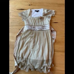 Girls My Michelle Gold Holiday Dress Size 8